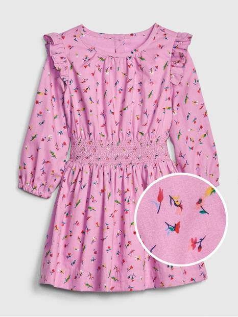 Toddler Ruffle Smock-Waist Dress