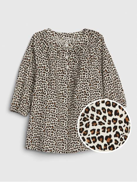 Baby Cord Leopard Dress