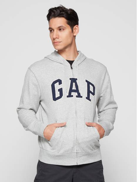 Arch Logo Full-Zip Hooded Sweatshirt