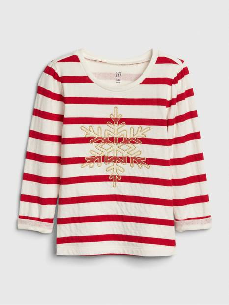 Toddler Stripe Snowflake T-Shirt
