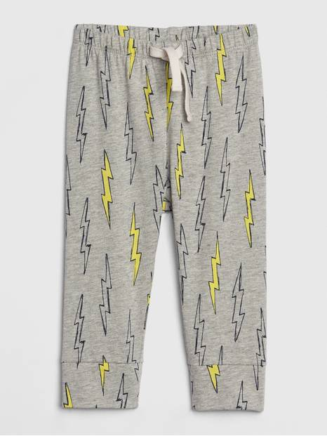 Baby Print Pull-On Pants