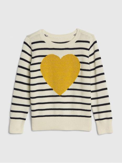 Toddler Heart Intarsia Sweater
