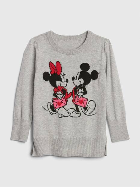 babyGap &#124 Disney Minnie Mouse and Mickey Mouse Tunic Sweater