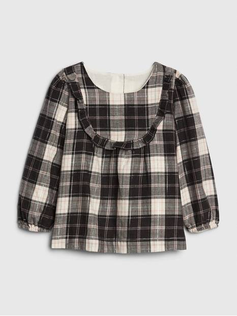 Toffler Flannel Ruffle Top