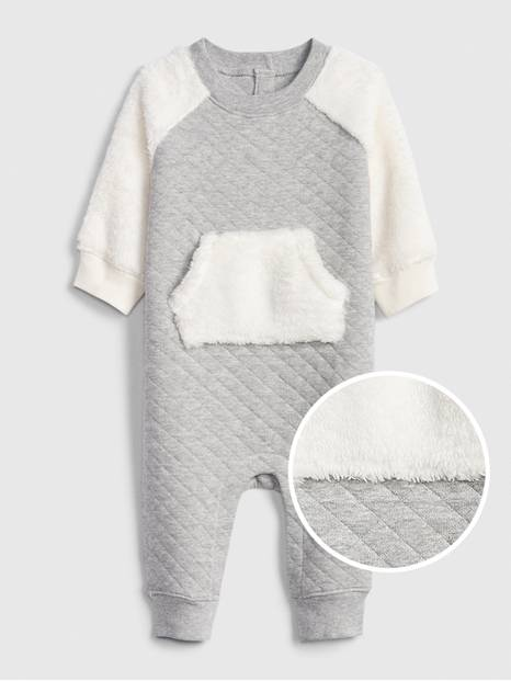Baby Quilted Sherpa One-Piece