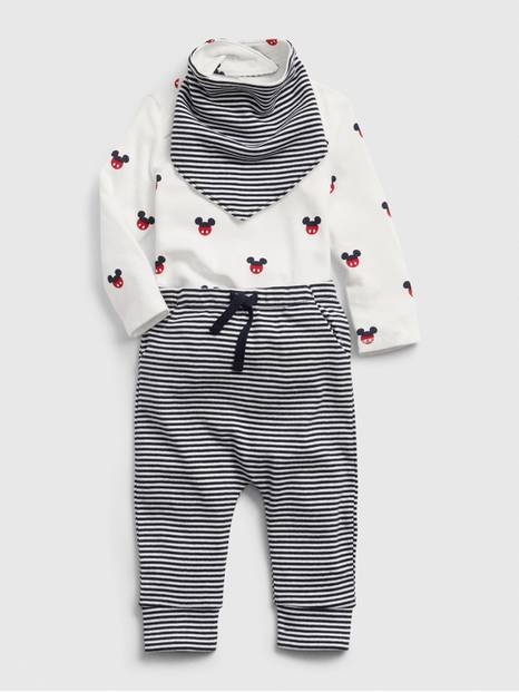 Baby Gap Disney Bodysuit, Pant and Bandana Gift Set