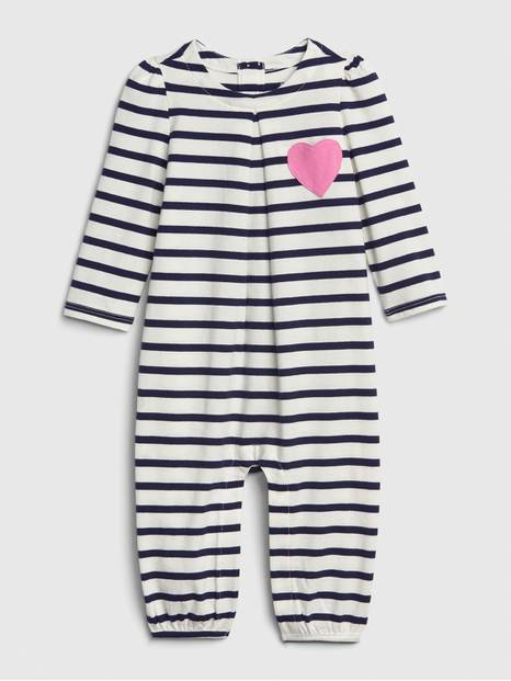 Baby Stripe Heart One-Piece