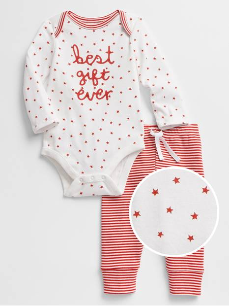 Baby Long Sleeve Bodysuit Set