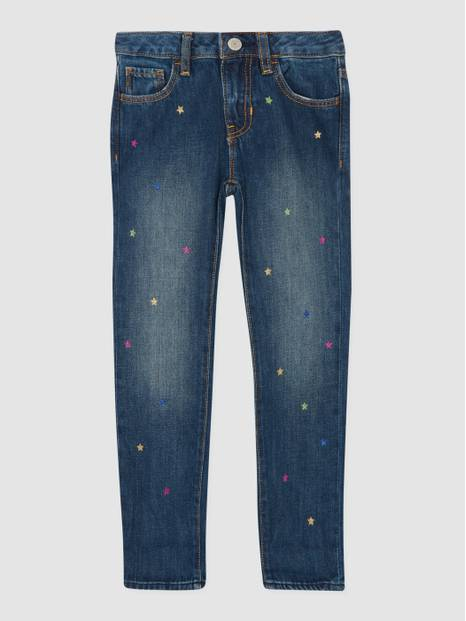 Kids Glitter Stars Regular Girlfriend Jeans