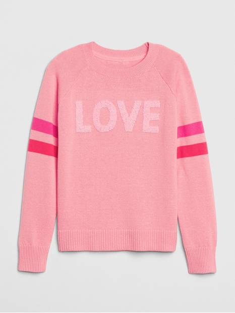 Kids Flippy Sequin Graphic Sweater