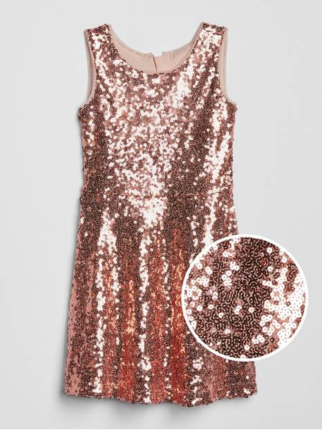 Kids Sleeveless Sequin Dress