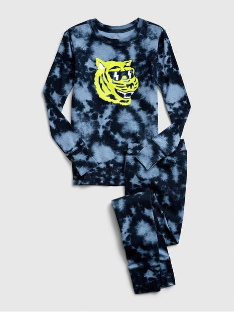 Kids Tie-Dye Tiger PJ Set