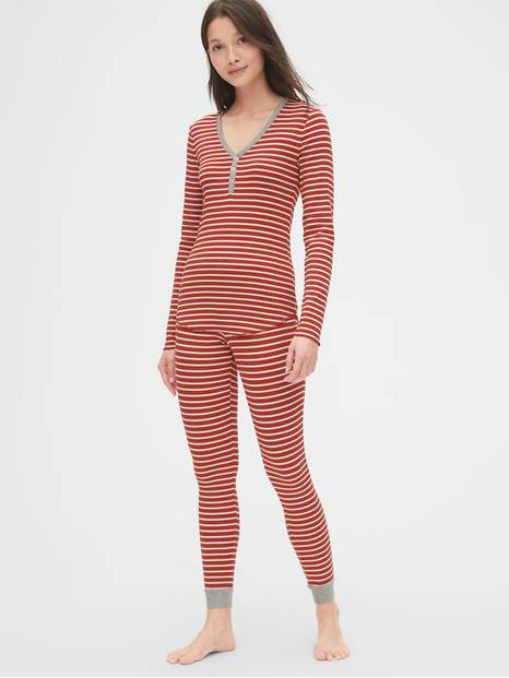 Stripe Ribbed Pajama Set