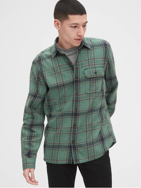Plaid Twill Shirt in Slim Fit