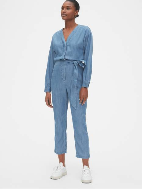 V-Neck Jumpsuit in TENCEL&#153