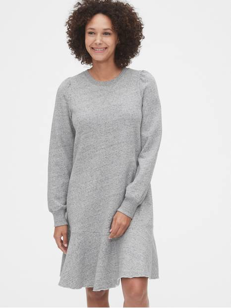 Flounce Sweatshirt Dress