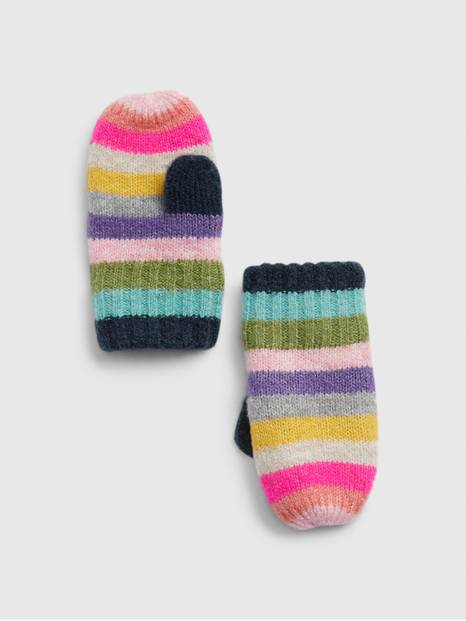 Toddler Crazy Stripe Mittens
