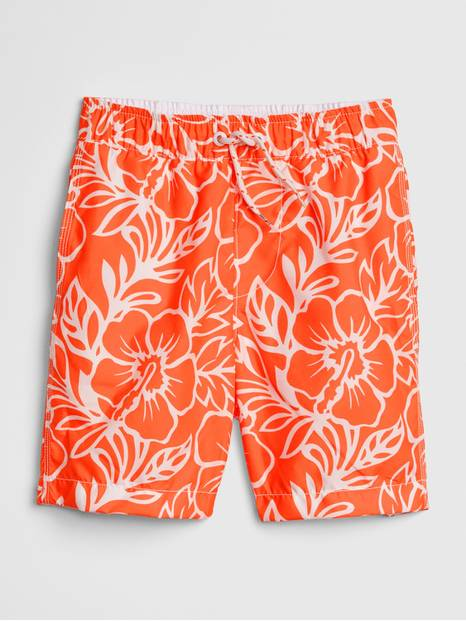 Kids Floral Swim Trunks