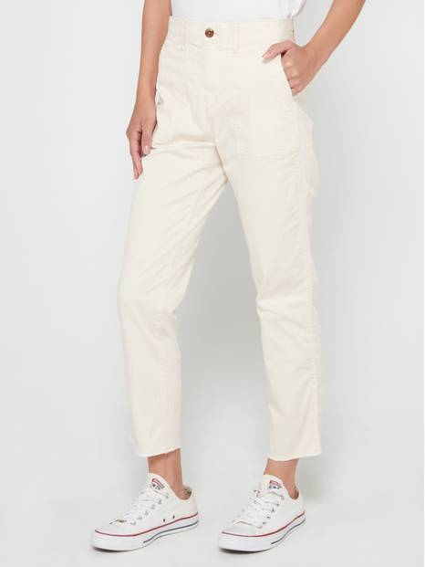 High Rise Utility Ankle Khakis