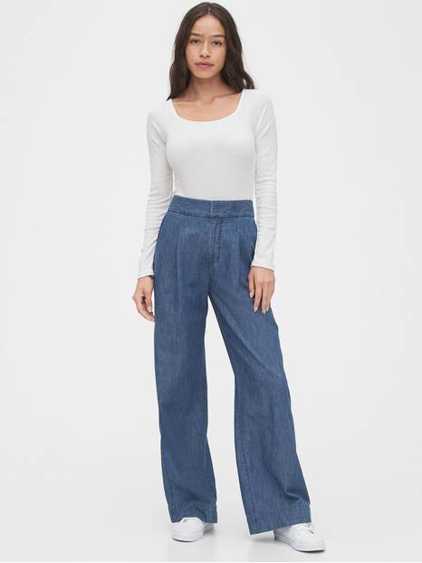 High Rise Wide-Leg Pants
