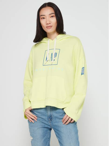 Gap Logo French Terry Graphic Pullover Hoodie