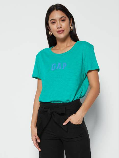 Logo Graphic Side Slit T-Shirt