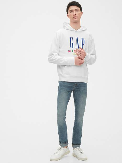 Gap Logo Pullover Hoodie in French Terry