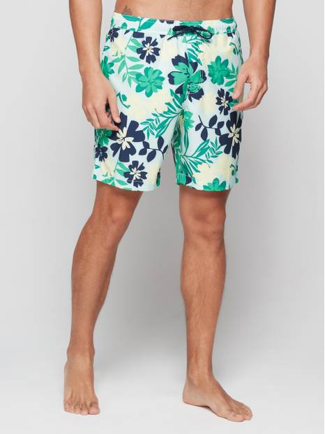 Floral Print Swim Trunks