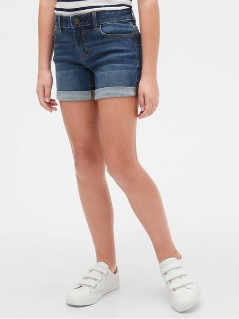 Kids Denim Midi Shorts