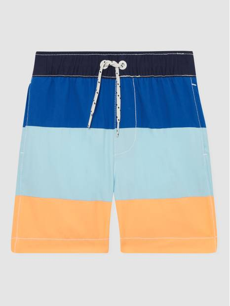 Kids Color-Block Swim Trunks