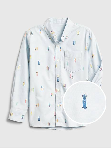 Kids Print Oxford Shirt