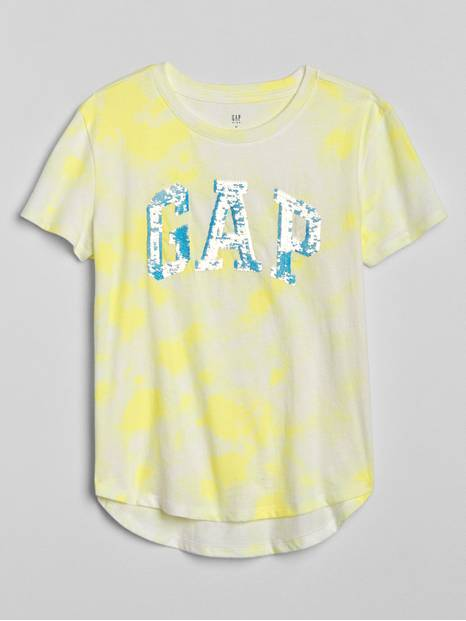 Kids Flippy Sequin Logo T-Shirt