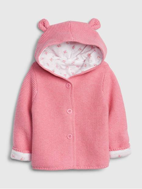 Baby Brannan Bear Floral-Lined Sweater