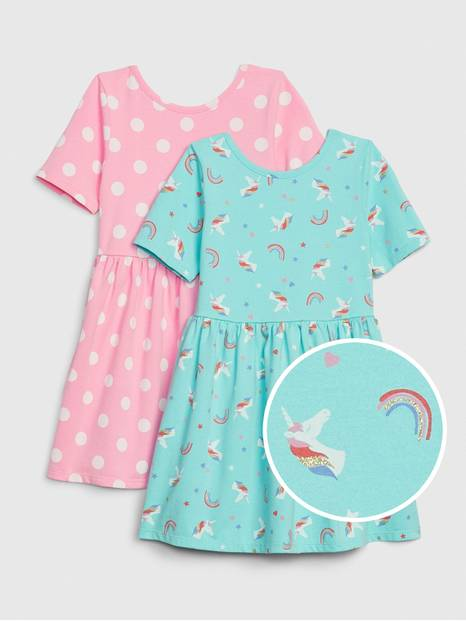 Toddler Skater Dress Set (2-Pack)