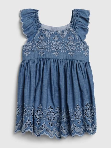 Baby Eyelet Denim Dress