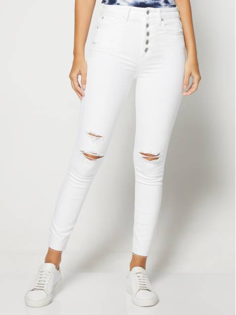 High Rise Destructed Legging Jeans
