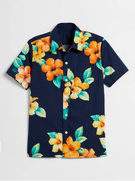 Kids Print Short Sleeve Shirt