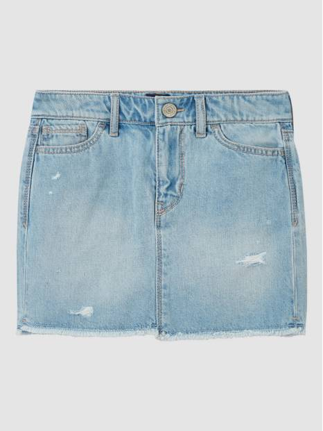 Kids Raw Hem Denim Skirt
