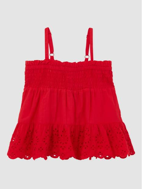 Kids Eyelet Smocked Top