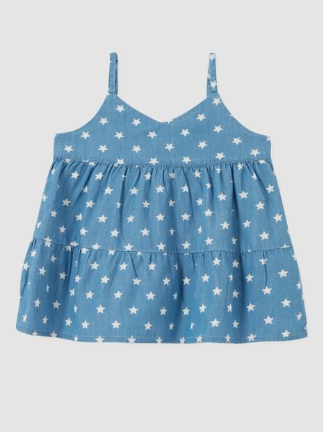 Kids Tiered Top in Chambray