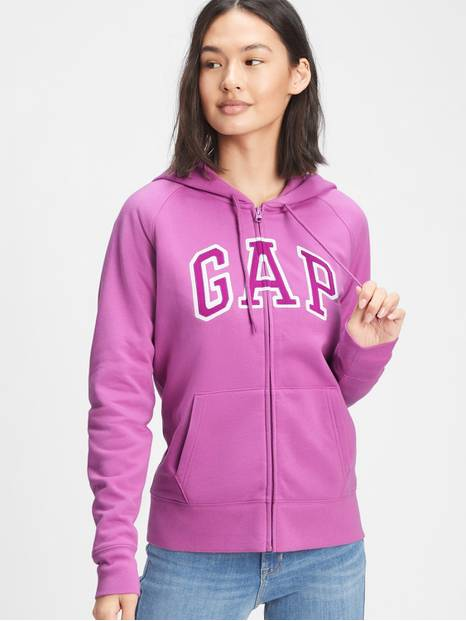 Gap Logo Zip Hoodie In Fleece