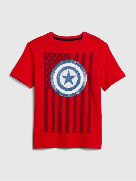 GapKids &#124 Marvel Flippy Sequin Graphic T-Shirt