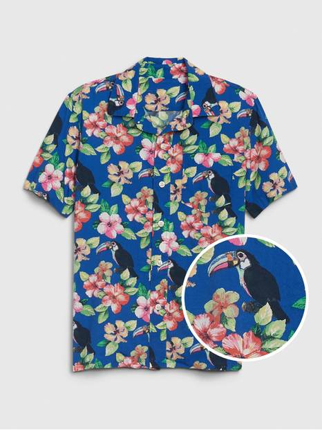 Kids Hawaiian Button-Down Shirt