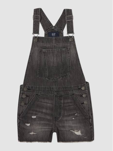 Teen Destructed Denim Shortall