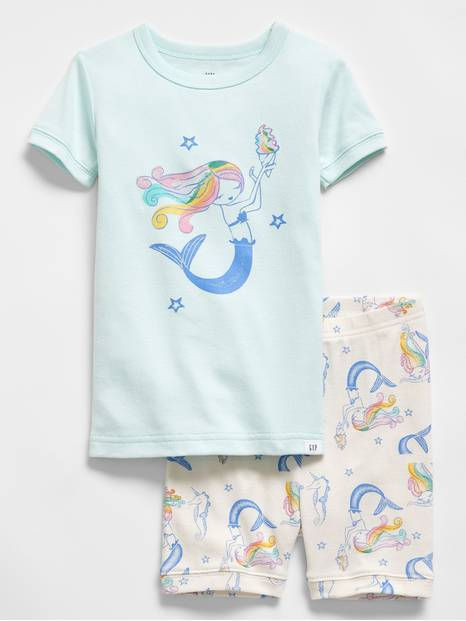 Baby Mermaid Short PJ Set