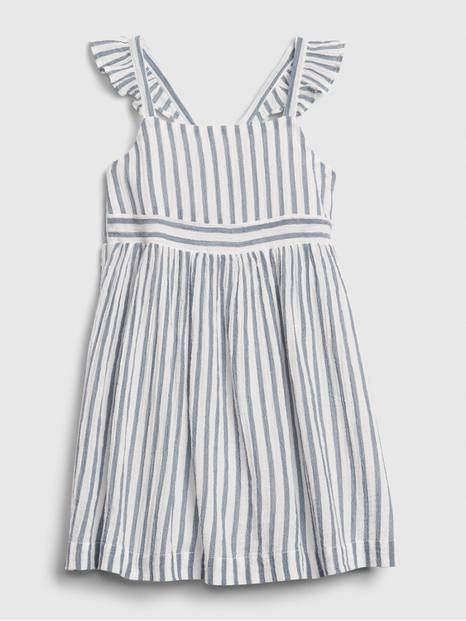 Toddler Flutter Farm Striped Dress