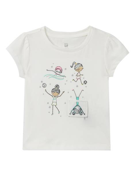 Toddler 3D USA Interactive T-Shirt
