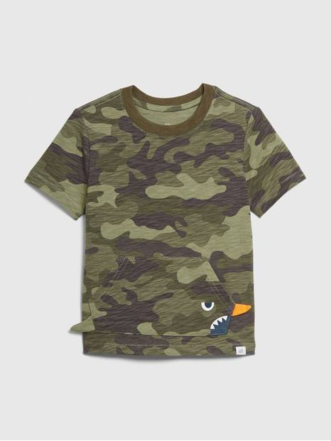 Toddler 3D Kanga Pocket T-Shirt