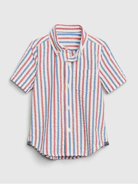 Toddler Americana Seersucker Button-Down