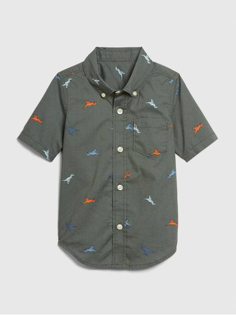 Toddler Print Button-Up Shirt